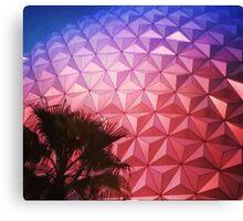 Sunset as Spaceship Earth (Epcot Ball) Canvas Print