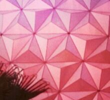Sunset as Spaceship Earth (Epcot Ball) Sticker