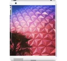 Sunset as Spaceship Earth (Epcot Ball) iPad Case/Skin