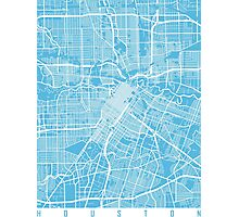 Houston map blue Photographic Print