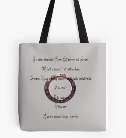 Xena the warrior princess-intro Tote Bag
