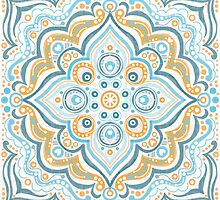Symmetry blue and yellow by stamptout