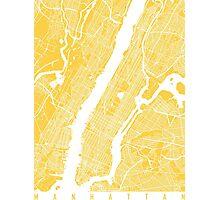 Manhattan map yellow Photographic Print