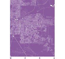 Mesa map lilac Photographic Print