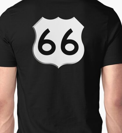 ROUTE 66, Get your Kicks on Route 66, US 66, USA, America, Will Rogers Memorial Highway Unisex T-Shirt