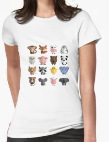 Flat animals Womens Fitted T-Shirt