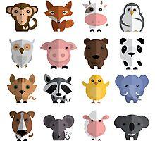 Flat animals Photographic Print