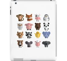 Flat animals iPad Case/Skin