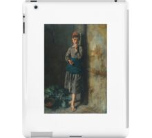 Jules Breton  FRENCH FILLETTE MANGEANT DES CERISES. iPad Case/Skin
