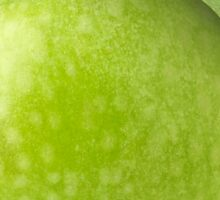 One green apple with leaf Sticker