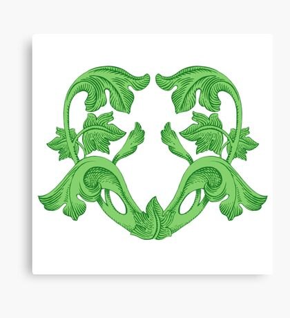 Green Heart Canvas Print