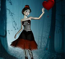 Bleeding heart - circus doll by Britta Glodde