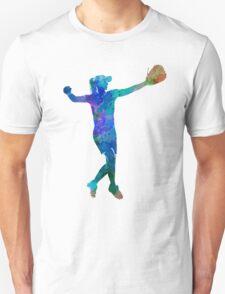 woman playing softball 02 Unisex T-Shirt