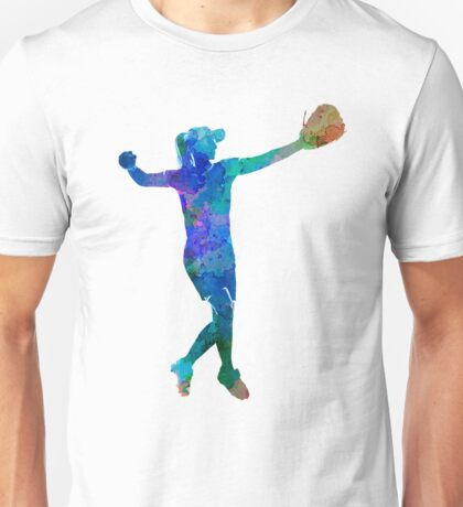woman playing softball 02 Unisex T-Shirt