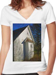 Backlit  Women's Fitted V-Neck T-Shirt
