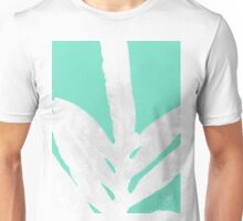 Green Fern on Ice Mint Green Inverted Silver Unisex T-Shirt