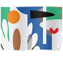 Growing Garden - Abstract Geometric Colour Print by Jenny Meehan jamartlondon Poster