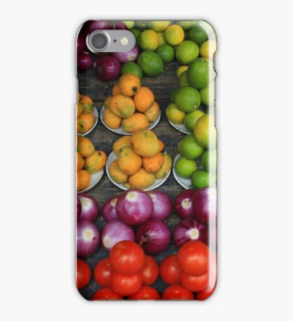 Fruit and Vegetable Market in Otavalo iPhone Case/Skin