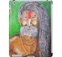 Holly man in the meditation process  iPad Case/Skin