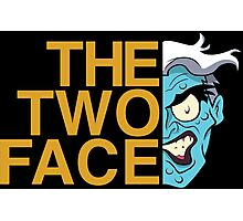 The Two Face Photographic Print