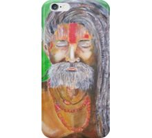 Holly man in the meditation process  iPhone Case/Skin