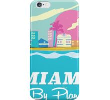 Cartoon 1980s miami vice vintage travel poster iPhone Case/Skin