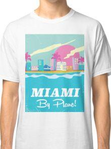 Cartoon 1980s miami vice vintage travel poster Classic T-Shirt