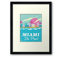 Cartoon 1980s miami vice vintage travel poster Framed Print