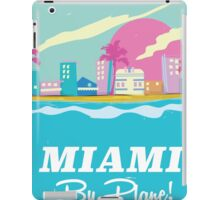 Cartoon 1980s miami vice vintage travel poster iPad Case/Skin