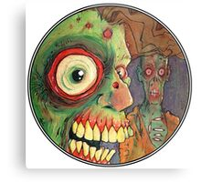 Apocalyptic circle of undead Metal Print