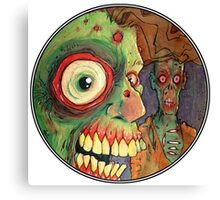 Apocalyptic circle of undead Canvas Print