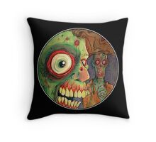 Apocalyptic circle of undead Throw Pillow