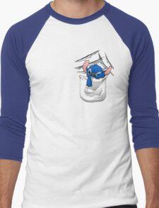 Badness Level Rising Men's Baseball ¾ T-Shirt