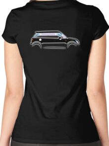 MINI, CAR, BLACK, BMW, BRITISH ICON, MOTORCAR Women's Fitted Scoop T-Shirt