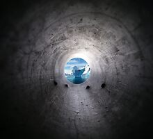 Mystery Hole to the Iceberg Antartica Polar Art design case pencil legging t shirt duvet by CarlosV
