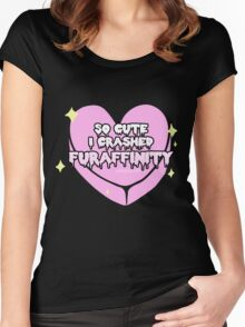 Furry Fandom - So Cute I Crashed Furaffinity (2) Women's Fitted Scoop T-Shirt