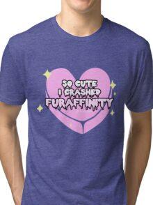 Furry Fandom - So Cute I Crashed Furaffinity (2) Tri-blend T-Shirt