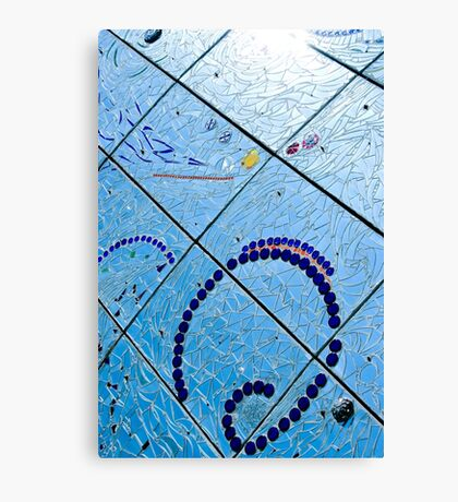 A Squiggle and Squares Canvas Print