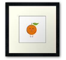 Orange character Framed Print