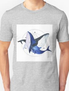 Whale. geometry. Watercolor illustration T-Shirt