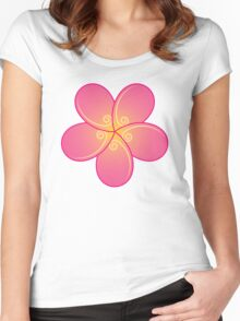 Stylized plumeria Women's Fitted Scoop T-Shirt