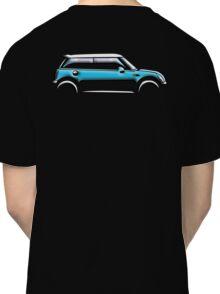 MINI, CAR, BLUE, BMW, BRITISH ICON, BRITAIN, UK, MOTORCAR Classic T-Shirt