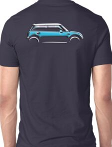 MINI, CAR, BLUE, BMW, BRITISH ICON, BRITAIN, UK, MOTORCAR Unisex T-Shirt