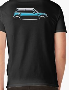 MINI, CAR, BLUE, BMW, BRITISH ICON, MOTORCAR Mens V-Neck T-Shirt