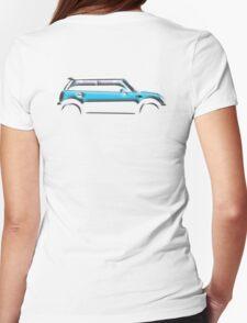 MINI, CAR, BLUE, BMW, BRITISH ICON, BRITAIN, UK, MOTORCAR Womens Fitted T-Shirt