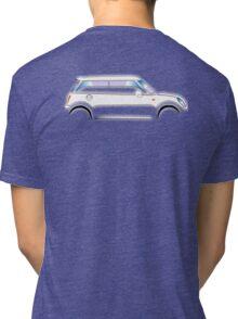 MINI, CAR, WHITE, BMW, BRITISH ICON, MOTORCAR Tri-blend T-Shirt