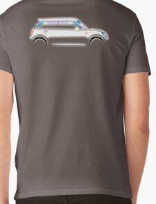 MINI, CAR, WHITE, BMW, BRITISH ICON, MOTORCAR Mens V-Neck T-Shirt