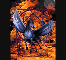 Hell`s Fire, Winged Horse Unisex T-Shirt