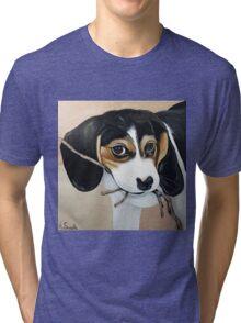 Beagle Puppy Tri-blend T-Shirt