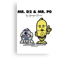 Mr D2 & Mr P0  Canvas Print